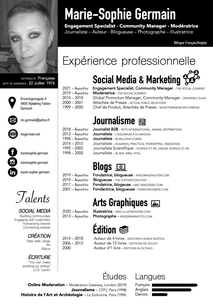 CV Marie-Sophie Germain